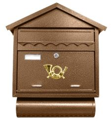 Poštovní schránka ST 102, 49 x 43cm, antická hnědá