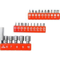 Sada bitů a adaptérů s magnetickým nástavcem, 26ks, EXTOL PREMIUM