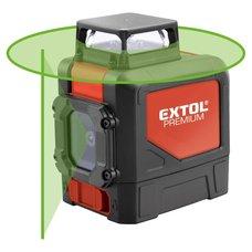 Laser liniový 360°, křížový samonivelační, zelený, EXTOL PREMIUM
