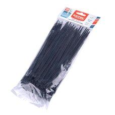 Pásek stahovací rozepínací, 200 x 4,8mm, černý, nylon PA66, balení 100ks, EXTOL PREMIUM
