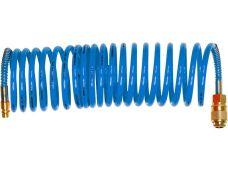 Vzduchová hadice spirálová, PU, koncovky, pr. 6mm, délka  5m, EXTOL PREMIUM