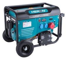 Elektrocentrála benzínová, 6,0kW, 13HP, 230 a 400V, EL. start, HERON