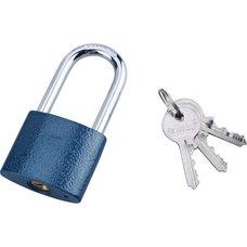 Zámek visací prodloužený, litinový, 45mm, modrý, 3 klíče, EXTOL CRAFT