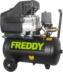 Kompresor olejový, 1500W, 1 píst, nádoba 24l, FREDDY