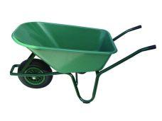 Kolečka LIVEX 100L, plastová korba - zelená, nafukovací kolo