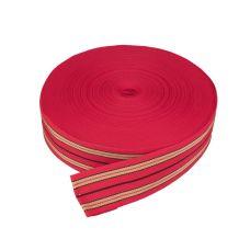 Popruh univerzální, PP, šířka 60mm, červený, balení 50m