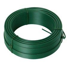 Napínací drát poplastovaný 3,5mm / 78m, zelený