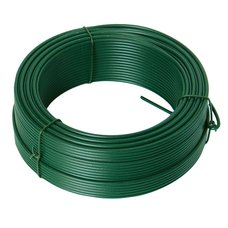 Napínací drát poplastovaný 3,5mm / 52m, zelený