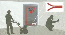 Protiprachové dveře, rozměr 1,1 x 2,2m