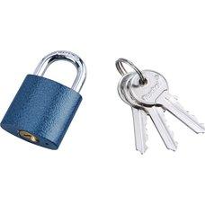 Zámek visací, litinový, 32mm, modrý, 3 klíče, EXTOL CRAFT