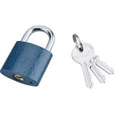 Zámek visací, litinový, 38mm, modrý, 3 klíče, EXTOL CRAFT