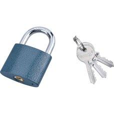 Zámek visací, litinový, 45mm, modrý, 3 klíče, EXTOL CRAFT