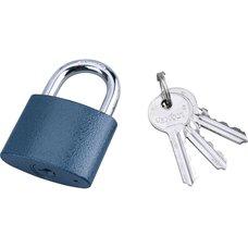Zámek visací, litinový, 52mm, modrý, 3 klíče, EXTOL CRAFT