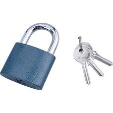 Zámek visací, litinový, 63mm, modrý, 3 klíče, EXTOL CRAFT