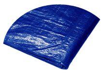 Plachta zakrývací PE s oky kruhová, průměr 3,5m, 120g/m, modrá