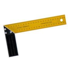 Úhelník příložný žlutý, délka 250mm, hliník + plech