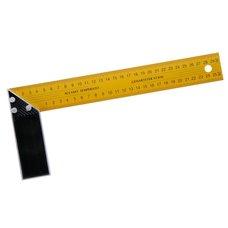 Úhelník příložný žlutý, délka 300mm, hliník + plech