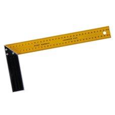 Úhelník příložný žlutý, délka 350mm, hliník + plech