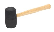 Palice gumová s dřevěnou násadou, průměr 80mm, černá
