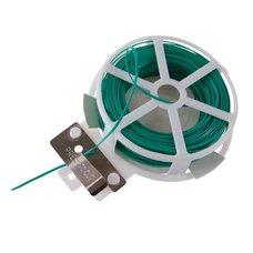 Drát vázací s plastovým povrchem, plochý, délka 30m, se střižným mechanismem