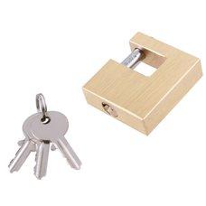 Zámek visací čepový mosazný 50mm, 3 klíče