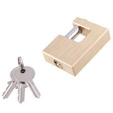 Zámek visací čepový mosazný 60mm, 3 klíče