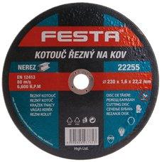 Kotouč řezný na kov, 230 x 1,6mm, 22,2mm, FESTA