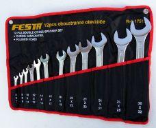 Klíče ploché sada 12ks, 6-32mm, FESTA