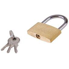 Zámek visací mosazný 40mm, 3 klíče