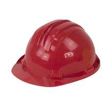 Ochranná pracovní přilba, červená