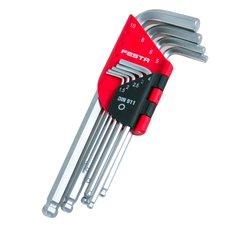 Klíče IMBUS s kuličkou, sada 9ks, 1,5 - 10mm, FESTA