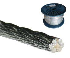 Ocelové lanko nerezové (6x7+FC), INOX, pr. 5,0mm, cívka 75m