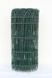 Pletivo okrasné, oko 150x90mm, drát 2,0mm, výška 40cm, délka 25m, ZN + PVC zelené